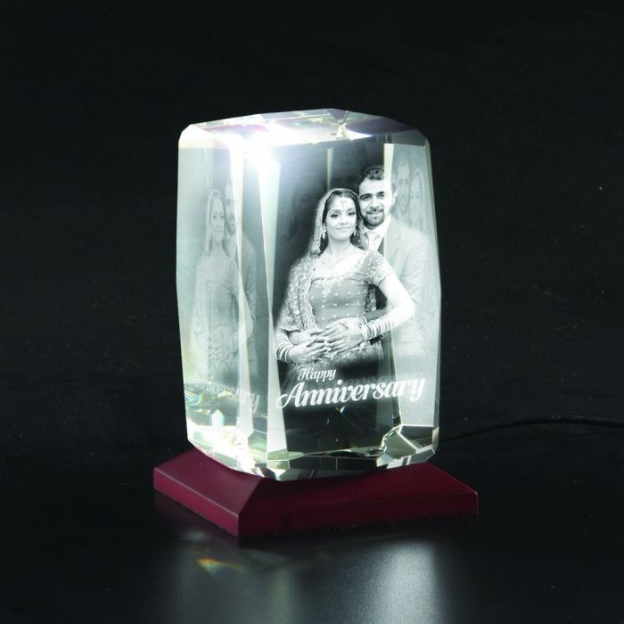 BEVELLED PERSONALIZED 3D PHOTO CRYSTAL