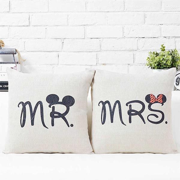 Mr & Mrs Big Ears Couple Cushions