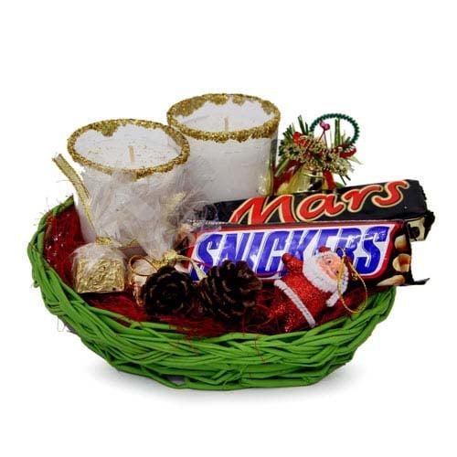 Decoration N Choco Basket For Christmas
