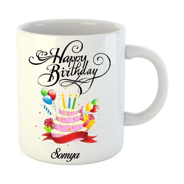 Happy Birthday Name Mug