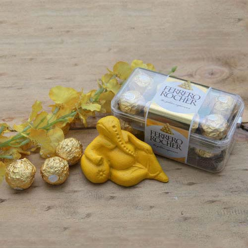 Ferrero Rocher boxes with Ganesh Idol