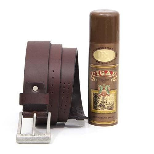 Cigar Deo N Leather Belt