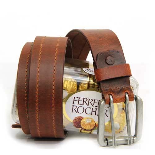 Leather Belt N Chocolates