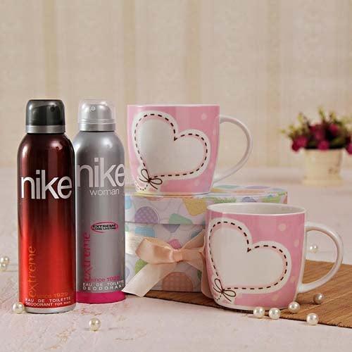 Set Of Deodorants And Mugs