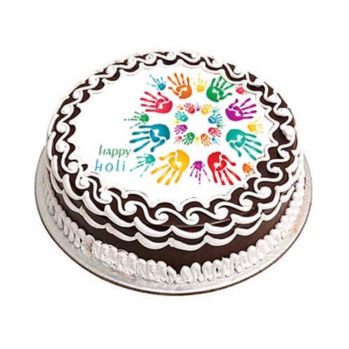 Happy Holi Photo cake 1kg