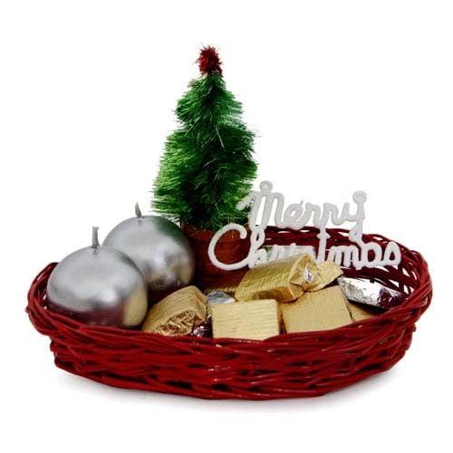 Candles N Choco Basket