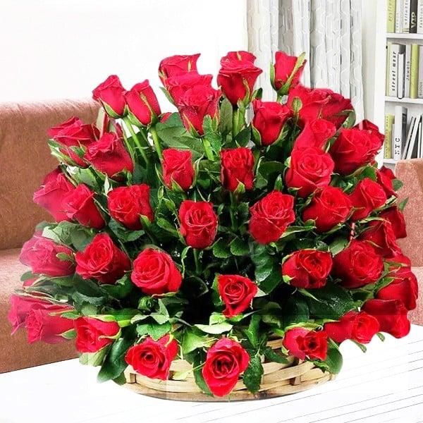 Red Roses Big Basket