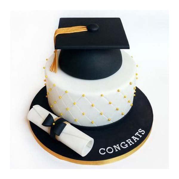 Elegant Graduation  3 kg Cake