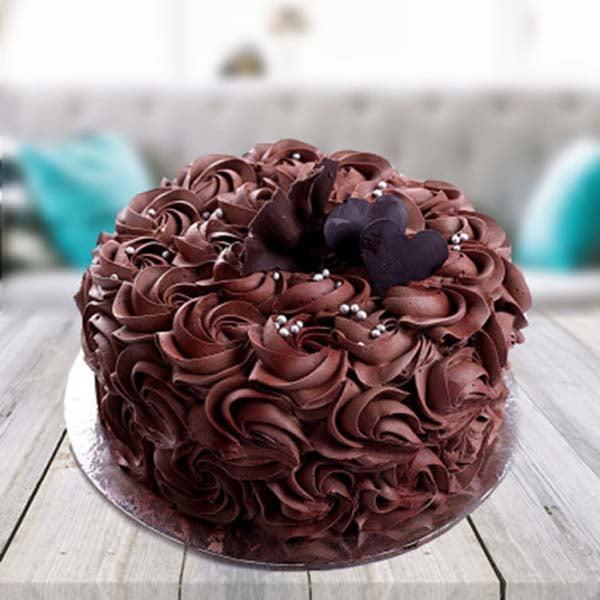 1 kg Chocolate Rose Cake
