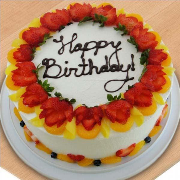 Delicious Birthday Fruit Cake