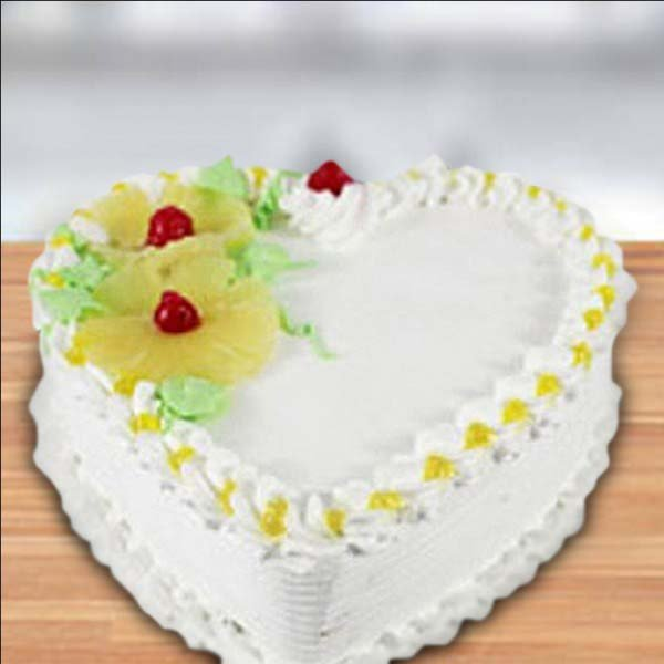 Pineapple Heart Shape Cake Love For You