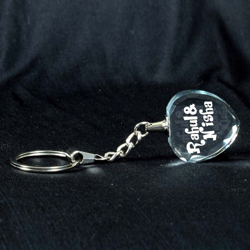 2D CRYSTAL PHOTO KEYRING HEART SHAPE