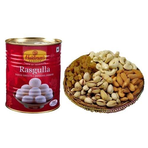 Assorted Gift and  Rasgulla