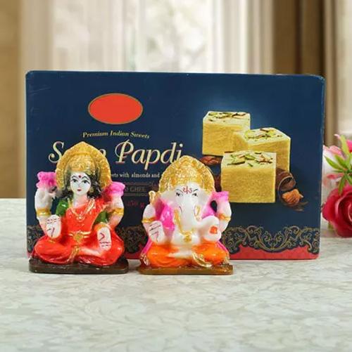 Soan Papdi with Lashmi Ganesha