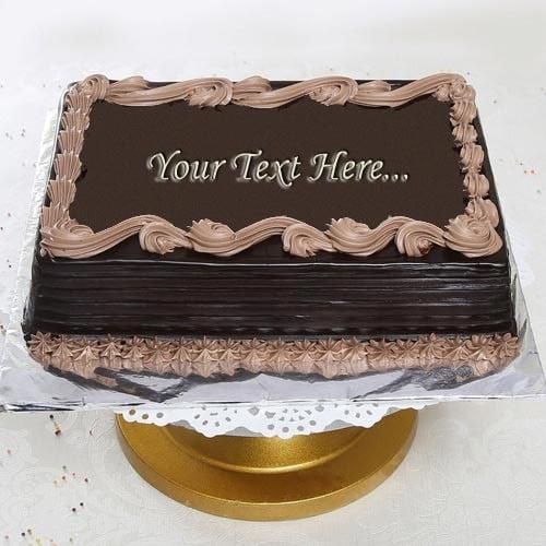 One Kg Square Chocolate Cake