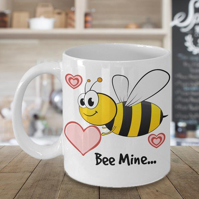 Bee Mine Valentines Coffee Mug