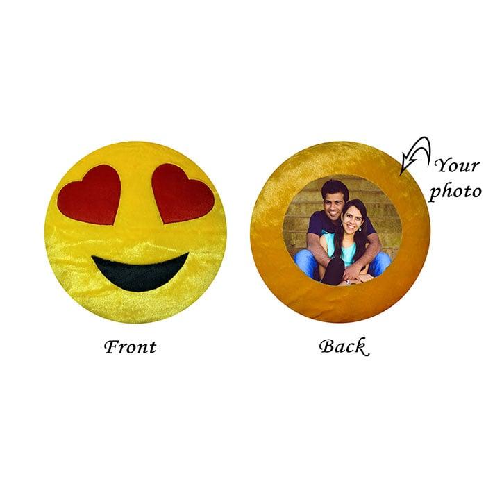 Romantic Round Emoji Cushion