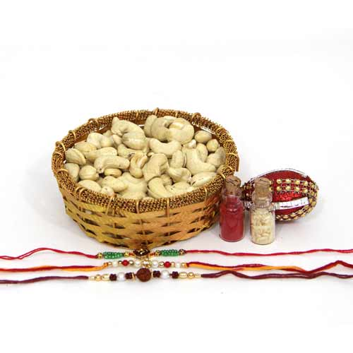 3 Set Rakhi n Kaju Bowl