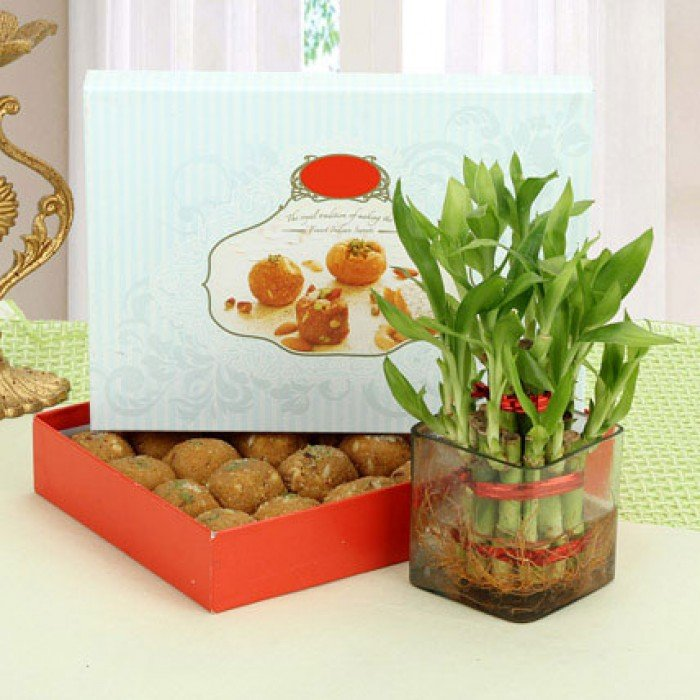 BESAN LADDOO WITH LUCK WISHES
