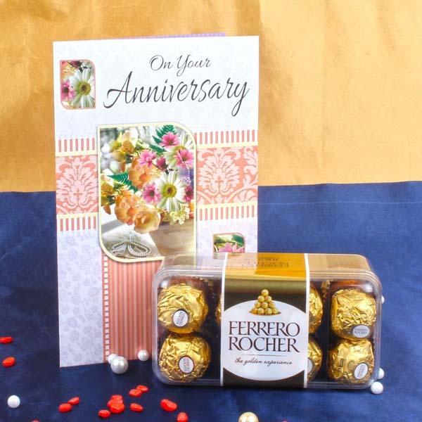 Anniversary Card with Ferrero Rocher Box