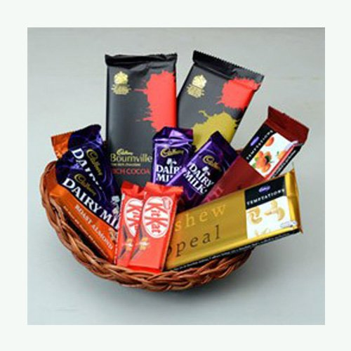 Special Chocolates in Basket Gift Hamper