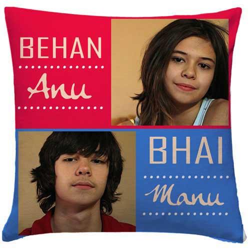 Personalised Behan Bhai Cushion