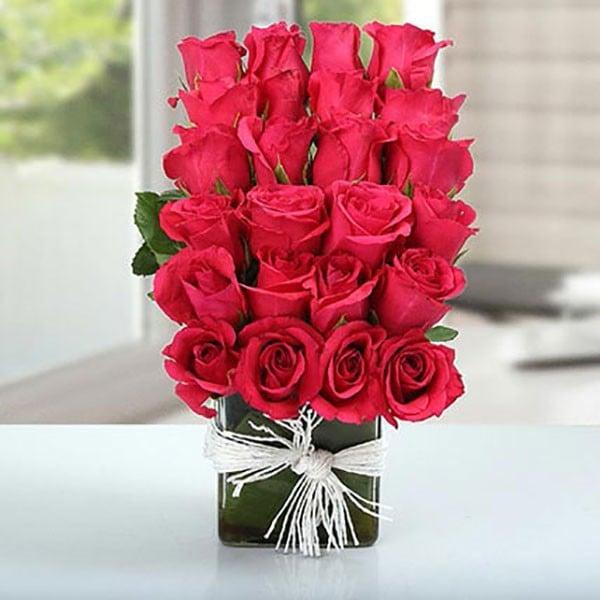 Layered Rose Arrangement