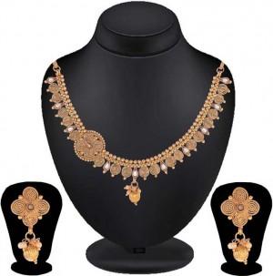 Alloy Jewel Set  (Gold, White)