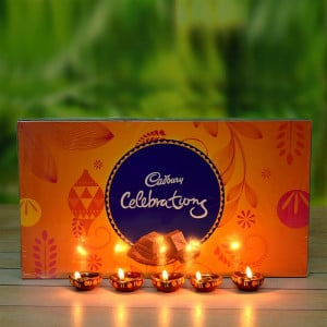 Diwali Diyas and Celebration box