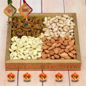 Diwali Dryfruits in A Tray