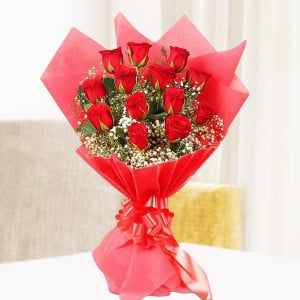 Simply Red Love Bouquet