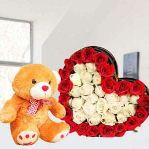 Valentine Flowers and Teddy Online