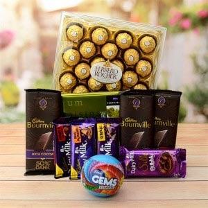 Ferrero Rocher & Bunch Of Chocolates Hamper