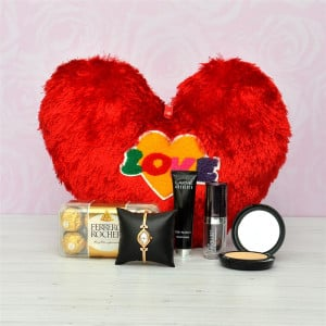 Love Pillow with Cosmetics and Watch Hamper