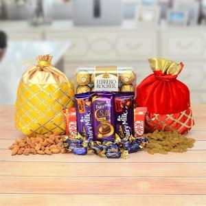 Almond & Raisin With Chocolates Hampers
