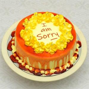 I Am Sorry Round Butter Scotch Cake