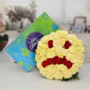 Feeling Sorry Flower With Cadbury Celebration