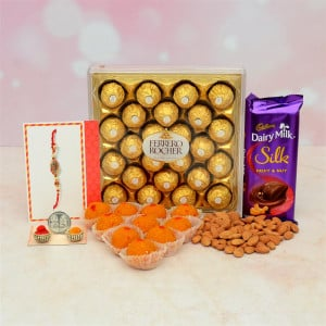 Dairy Milk Almond WIth Motichoor Ladoo Hamper