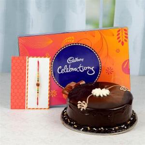 Rakhi Chocolate Cake & Celebration Hamper