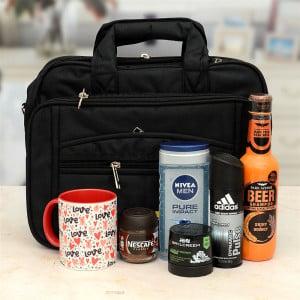 Portfolio Bag With Mesz Care Hamper