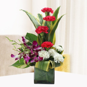 Orchids & Carnations Arrangement