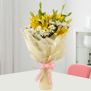 Daisies & Lilies Mixed Bouquet