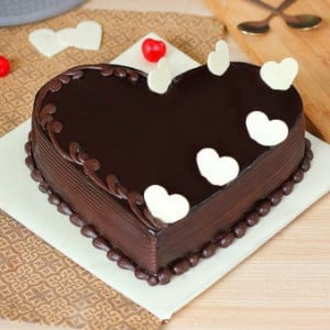 Truffle Heart Shaped Cake