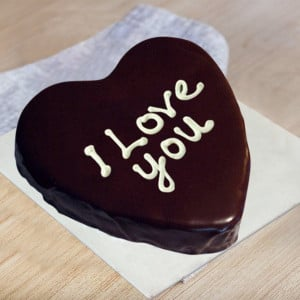 Love You Heart Cake