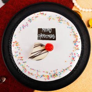 Merry Christmas Vanilla Cake