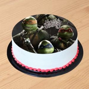 Turtle Ninja Photo cake