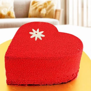 Heart Shape Sugarfree Red Velvet Cake