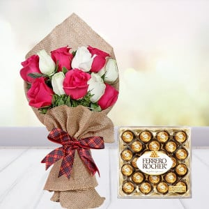 Fascinated Roses N Rocher Combo