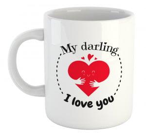 My Darling White Coffee Mug