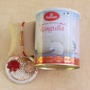 Sweet Rasgulla with Rakhi Surprise